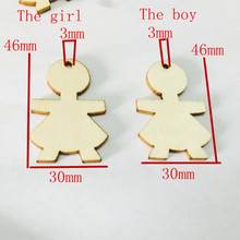 10pcs/ Wooden boy and girl/ People Shape/ Different Style /Home decoration/children gifts/DIY/Lovely/