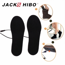 JACKSHIBO Heated Insoles Winter Men Women Heated Shoe Inserts Electric Powered Insoles for Shoes Boot Keep Warm Shoe Pad()