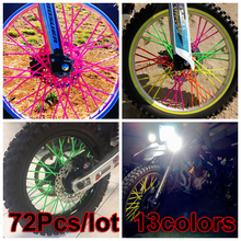 72pcs*23.5CM Multicolor Universal For KTM for HONDA for KAWASAKI Motorcycle Bike Off Road Wheel Rim Spoke Shrouds Skins Covers