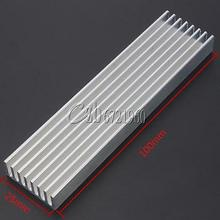 100x25x10mm Aluminum Heat Sink Cooling for LED Power IC Circuit Transistor