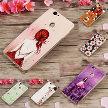 For Coque Huawei Nova Case Silicone Soft TPU Back Cover 3D Relief Cute Cartoon Cat Flower Girl Paint Case For Huawei Nova Capa