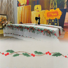Christmas tree tablecloths white table cloth rectangular de mesa new year linen table covers wedding decorations.