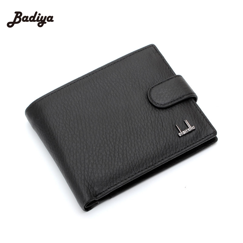 Brand Designer Genuine Leather Coin Purses Card Holders Short Hasp Cow Leather Male Business Clutch Money Pocket<br><br>Aliexpress