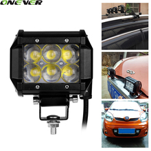 4 Inch 30W LED Work Light Bar Offroad Driving Fog Light Flood Lamp For 4WD SUV ATV 4X4 Boat ATV