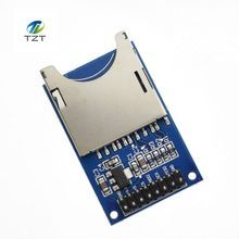 1PCS Hot Sale Reading and Writing Module SD Card Module Slot Socket Reader ARM MCU for arduino DIY Starter Kit