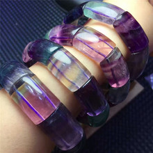 Buy 2017 New Hot Sale Wholesale Genuine Coloful Fluorite Fluorspar Crystal Quartz Charm Stretch Bracelets for $46.75 in AliExpress store