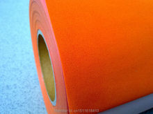 CDF-07 orange color Excellent Quality Heat transfer flocking vinyl film heat use for heat transfer machine hot sell(China)