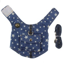 New Jeans Pet harness set Teddy poodle Small Dog Vest Harnesses with little pocket Puppy Pet harness leash S M L(China)