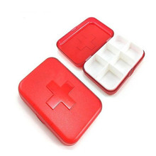 5pcs/Bags Hot Red Cross Six Cell Portable Portable Small Plastic Box Made of new Material Box 6 Box Can Be Printed Logo