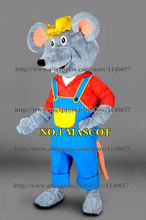 mascot Custom Mascot Farmer Mouse Mascot Costume Adult Size Cartoon Character Rat Mascotte Mascota Fancy Dress(China)