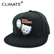Climate World Famous Suicide Squad Harley Quinn DC Comics Super Heros Flat Snapback Hip Hop Caps Hat for Unisex Adult Men Women