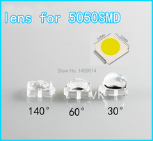 100pcs LED lens for 0.5W 5050SMD 30 60 140 degree high quality 7.6*7.6mm convex optical lens Reflector Collimator