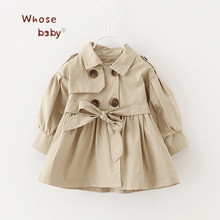 Newborn Baby Girl Clothes 2017 Autumn Bow Coat Infant Clothes For Children Outwear Baby Girls Fashion Winter Clothing Baby Coats(China)