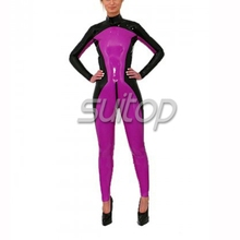 Buy nature rubber latex handmade zentai fetish tights catsuit woman