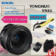 Yongnuo YN35mm F2 35mm F/2.0 AF MF Wide Angle Fixed Lens EF for Canon Camera EOS