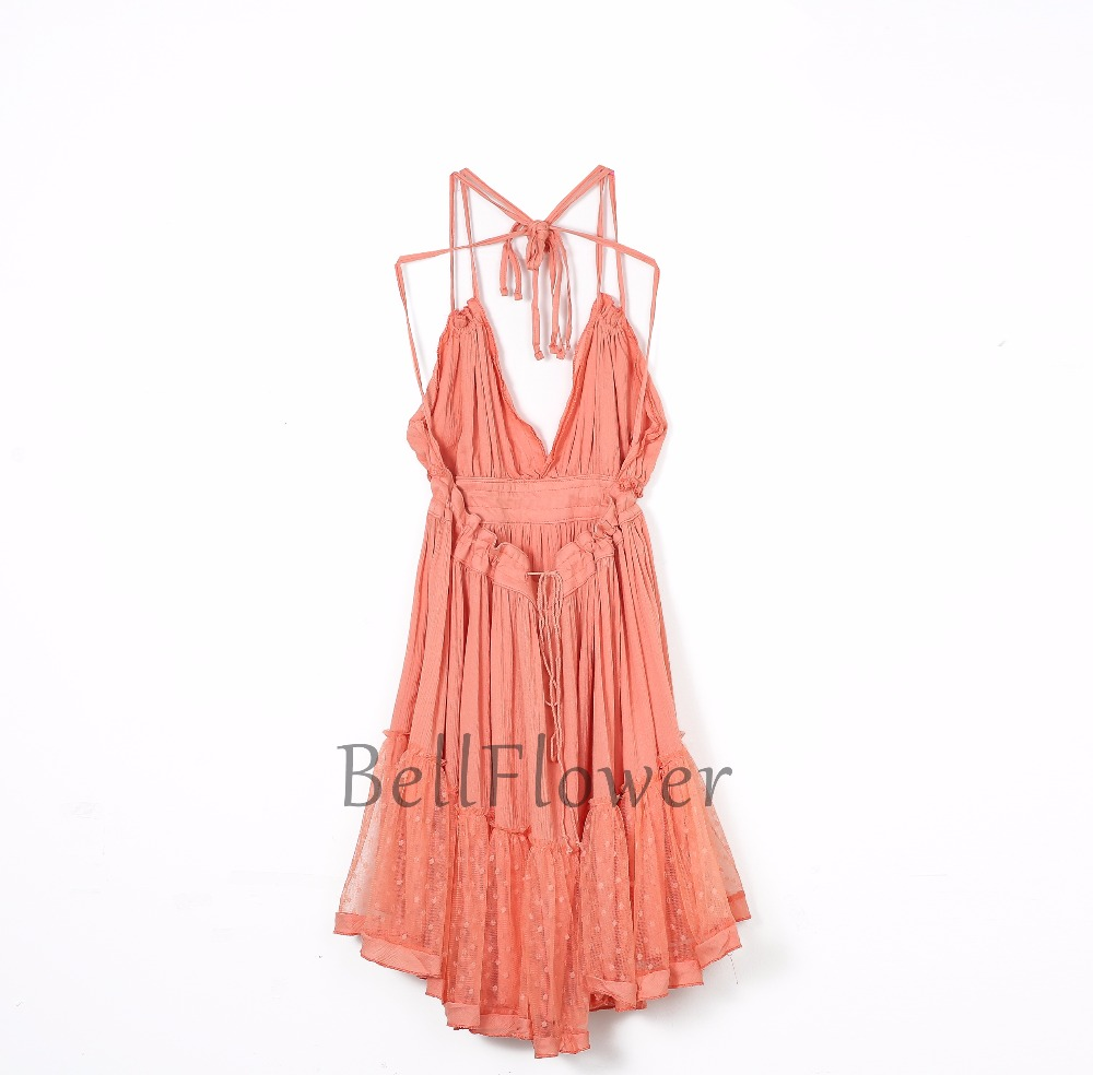 BellFlower 17 Summer Bohemian Women Mini Dress Backless Beach Dress Holiday Boho Strapless Sexy Ball Gown Hippie Chic Dress 5