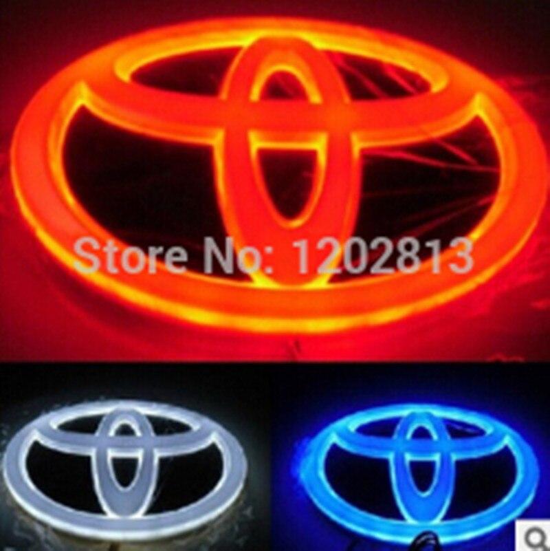 Free Shipping New High Quality Led 4D emblem light For TOYOTA ALRHARD New REIZ Yaris Prado led badge, logo sticker 4D<br><br>Aliexpress