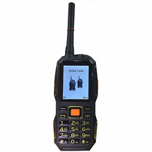 Walkie Talkie gsm PHONES power bank wireless FM mobile phone Rugged shockproof china cheap Cell Phones russian keyboard button(China)