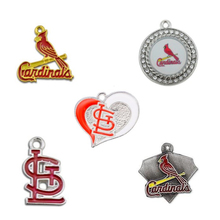Newest Enamel Baseball Team St. Louis Cardinals Pendant Charms For DIY Women Necklace & Bracelet & Earring Jewelry 10pcs/lot(China)