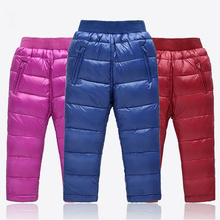 Boys Pants Girls Leggings Children Pants For Girls Winter Children Clothes Down Baby Autumn kids Clothes Boys Clothing Child(China)
