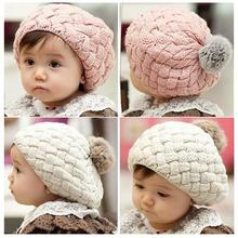 gorros baby beaine kids winter bonnet hat,faux rabbit fur crochet skullies cap for 0-3 years old girl,turbante toucas de inverno(China)