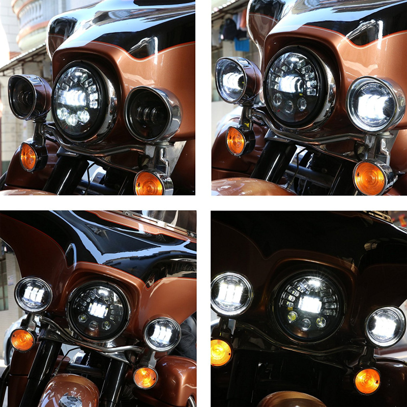 7 inch Round Motorcycle Led Projector Daymaker Adaptive Headlight High Low Beam For Harley BMW R NineT R9T LED Headlamp (21)