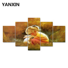 5 Pieces Canvas Prints Paintings For Living Room Decoration Print Canvas Framless Pictures 425WJ05(China)