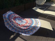 Bath Towel Round Beach Tassel Towels Summer Microfiber Bohemian style beach Serviette De Plage Toalla Playa Swimming shawl scarf