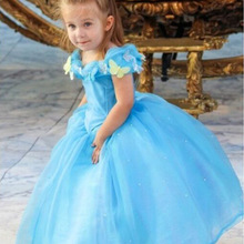 Children Girl Dress Baby Clothing Brand Ceremonies Party Cosplay Cartoon Cinderella Princess Dresses Girls Clothes Costumesl