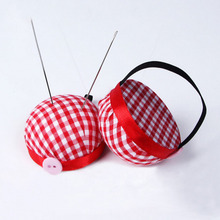 1pcs Ball Shaped Needle Pin Cushion With Elastic Wrist Belt DIY Handcraft Tool for cross stitch sewing home