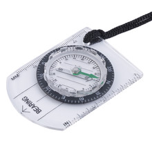 Buy Mini Baseplate Compass Map Scale Ruler Outdoor Camping Hiking Cycling Scouts Military Compass for $1.94 in AliExpress store