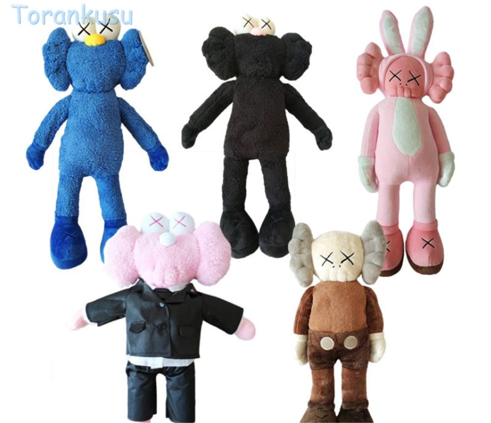 KAWS Bff Kaws Plush Doll Soft Thailand Bangkok Exhibition Sesame Street BFF Blue Pink Black Stuffed Toys for Children Kids Gift