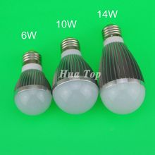 5Pcs High power Lampadas 6W 10W 14W LED bulb Wide voltage 85-265V Aluminum lamp Home spotlight Christmas Full watt Energy saving