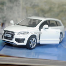 Brand New KT 1/36 Scale Germany Audi Q7 SUV Diecast Metal Pull Back Car Model Toy For Collection/Gift/Kids(China)