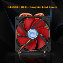 PCCOOLER CPU Cooler 2 Heatpipes Radiator Graphics Card Cooler for NVIDIA AMD Cooling VGA Fan 100mm PWM Fan For Computer(China)