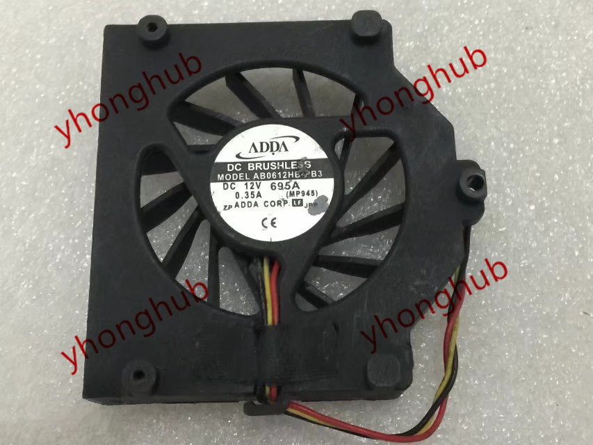 Frss shipping for ADDA AB0612HB-PB3 DC 12V 0.35A 3-wire 3-pin Server Bare fan<br>