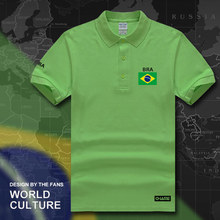 Brazil polo shirts men short sleeve white brands printed for country 2017 cotton nation team flag new brasil BRA Brazilian gyms(China)