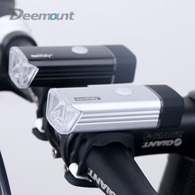 Bicycle Front Light USB Rechargeable High Power LED Head Lamp Handlebar Lighting Lantern Bike Cycling Flashlight 1200mAH(China)