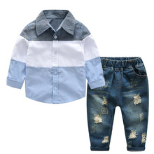 Children Clothing 2019 Spring Toddler Boys Clothes Gentleman Outfit Kids Clothes Sport Suit Boys Clothing Set 2 3 4 5 6 Year
