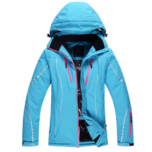 2017 new winter ski jacket waterproof windproof warm breathable thickening outdoor ladies cotton clothing free shipping size SXL