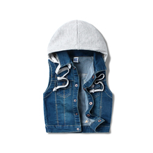 Cowboy vest autumn 2017 new Childrens Boys Hooded Vest vest and pure baby