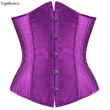 Sapubonva plus size sexy corset underbust bodyshaper costumes corsets bustiers ladies burlesque corselet red blue black pink(China)