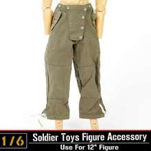 "1/6 Action Figure Clothing Accessory Dragon/DML WWII German Soldiers Pants Trousers For 12"" Military Action Figure Body Toys"