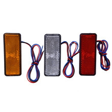 2017 12V Universal LED Reflector White Red Yellow Rear Tail Brake Stop Marker Light For JEEP SUV Truck Trailer Motorcycle Car(China)
