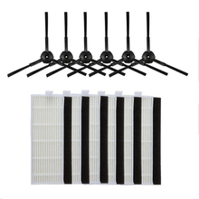 New 18pcs Side brush hepa Filter replacement kit ILIFE A4 Cleaning Robot ILIFE A4s A6 A4 Robot Vacuum Cleaner