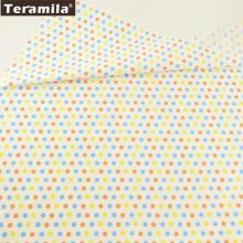 Teramila Cotton Fabric Printed Colorful Dots Designs Tissue Material DIY Quilting Patchwork Pillow Baby Cloth Dress Decoration(China)