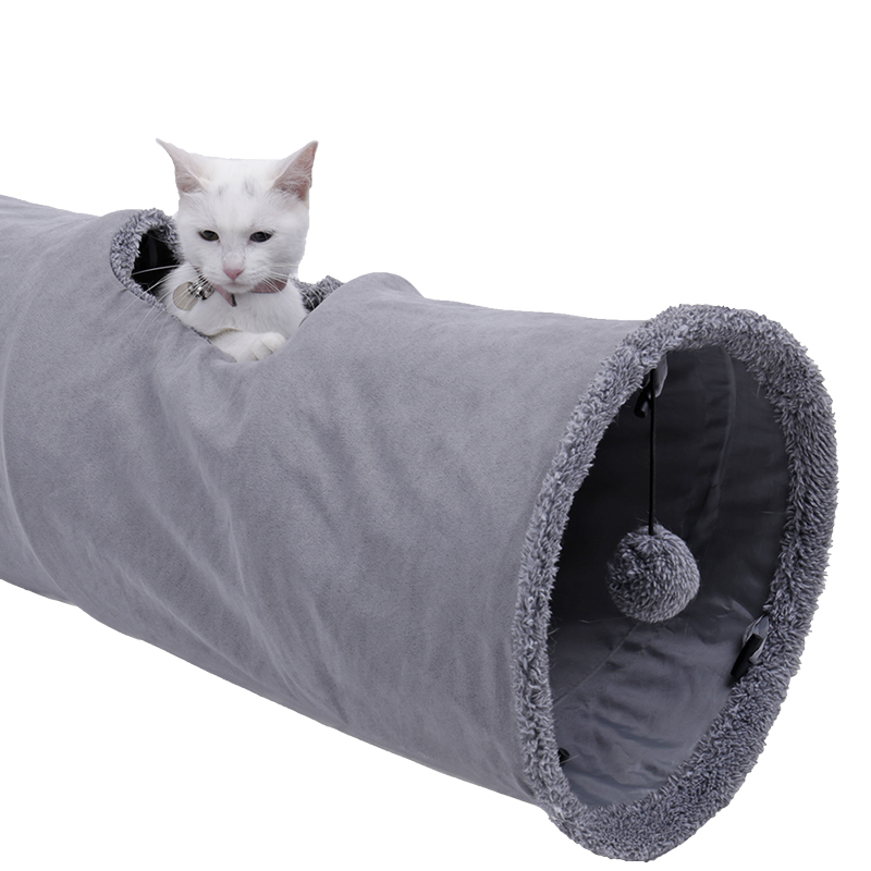 big cat tunnel Big Long Cat Tunnel with Play Ball Suede Material-Free Shipping HTB1c5Owa5P85uJjSZFIq6xISXXaN