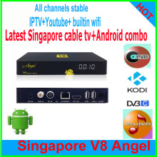 2017STRONG function Singapore cable tv starhub box V8 Angel+Android tv box DVB-C combo hd tv receiver 4k 1G/8G BUILTIN WIFI kodi