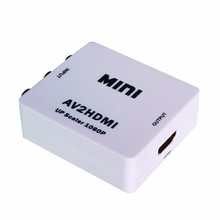 CVBS to HDMI RCA to HDMI AV to HDMI 1080P AV2HDMI Mini AV to HDMI Converter Signal Converter for TV, VHS VCR, DVD Records