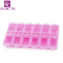 KADS New Pink Empty Plastic Storage Case Rhinestones  Nail Art Products Earring Jewelry Container Organizer Box